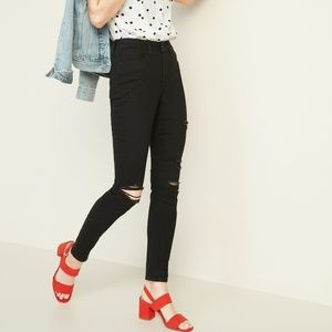 ON High-Waisted Distressed Pop Icon Skinny Jeans